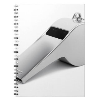 Referee whistle notebooks