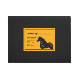 """Reference floor mat """"note! Unsolicited unicorn! """""""
