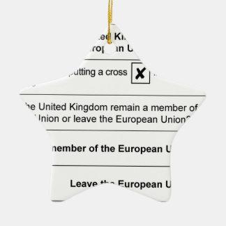 Referendum Remain in EU Ceramic Ornament