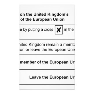 Referendum Remain in EU Personalized Stationery