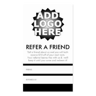 référez-vous un ami carte de visite