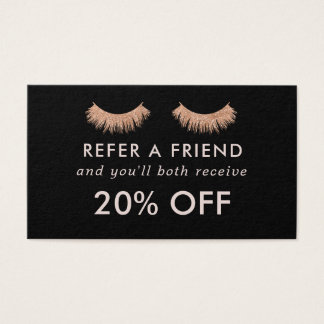 Referral Card Eyelashes Makeup Artist