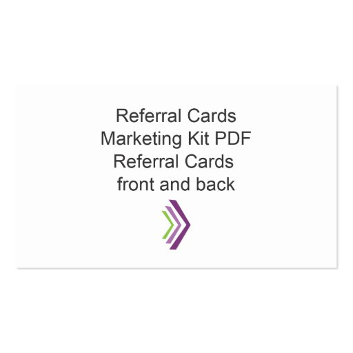 referral card templates