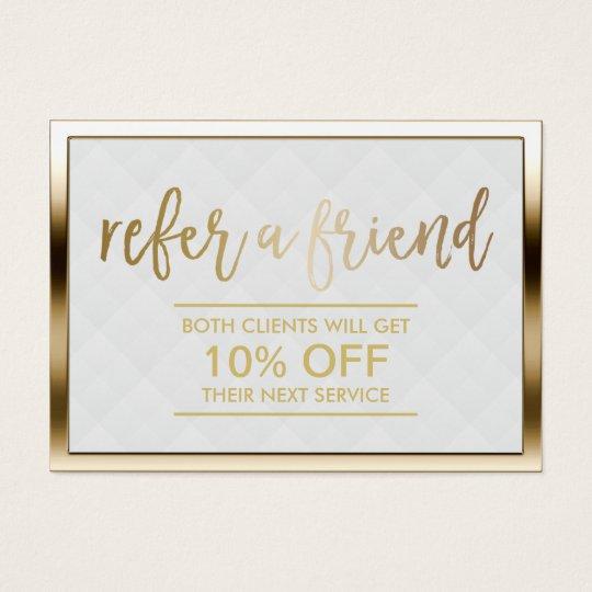 Referral Card | Modern Gold Framed