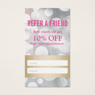 Referral Card | Silver & Gold Eyelash Extensions