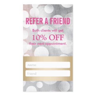 Referral Card | Silver & Gold Eyelash Extensions Business Card