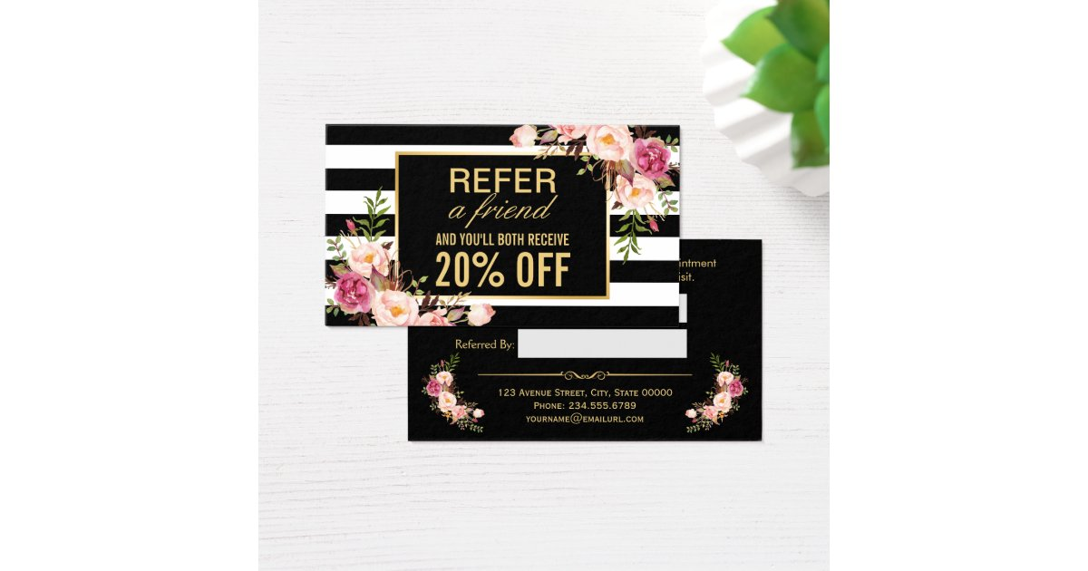 Beauty Salon Referral Cards Hairstylegalleriescom