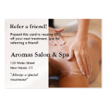 Referral Card with massage hands