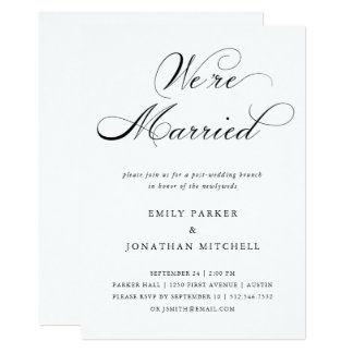 Refined | Black and White Post-Wedding Brunch Card