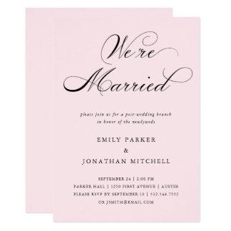 Refined | Blush Pink Post-Wedding Brunch Card
