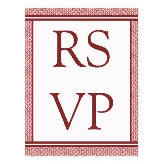 Refined Glam RSVP Card Postcard