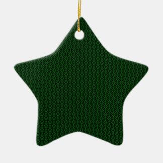 Refined Glam Star Christmas Ornament, Dark Green Ceramic Star Ornament
