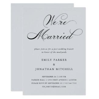 Refined | Soft Gray Post-Wedding Brunch Card