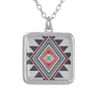 Refined Southwest Silver Plated Necklace