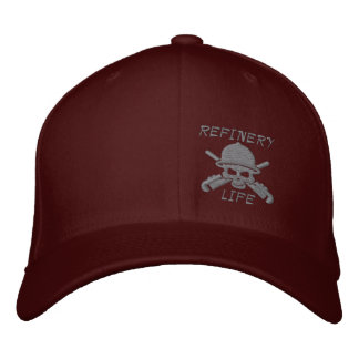 Refinery Life - Front only (grey stitching) Embroidered Hat
