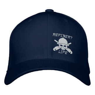 Refinery Life - Front only (white stitching) Embroidered Hat