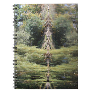Reflected Willow Trees In River Notebook