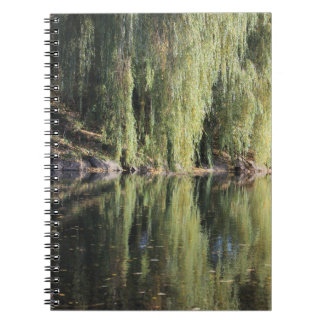 Reflected Willow Trees In River Notebooks