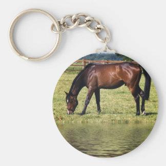 Reflecting Bay Basic Round Button Keychain
