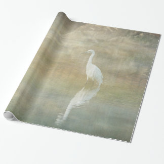 Reflecting Egret Wrapping Paper