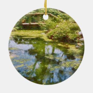 Reflecting On Life Round Ceramic Ornament