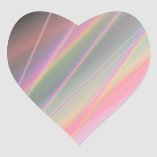 Reflecting Rainbows Heart Sticker