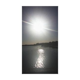 Reflecting Sun Canvas Print