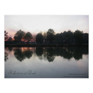 """Reflection at Dusk"" Poster"