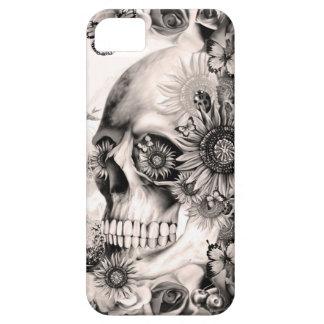 Reflection, floral landscape skull iPhone 5 case