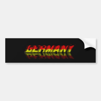 Reflection Germany bumper sticker in black
