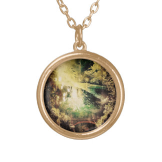 reflection gold plated necklace