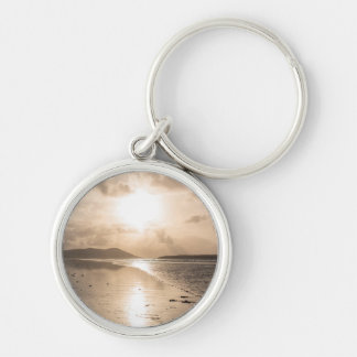 Reflection heaven Silver-Colored round keychain