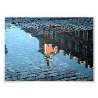 Reflection in a pool of the Greater Place of Photo Print