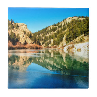 Reflection in Elevenmile Canyon Ceramic Tiles