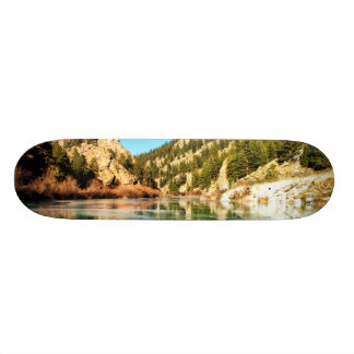 Reflection in Elevenmile Canyon Skate Board Deck