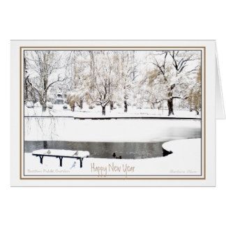 Reflection: In New Year: Boston Public Garden Card