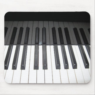 reflection of black and white piano keys mouse pad