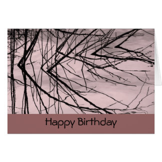Reflection of branches on Pink Water Card