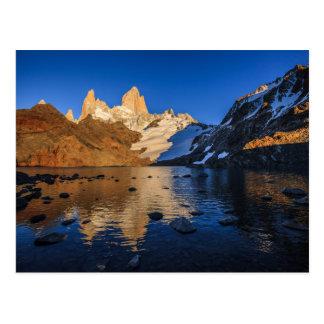 Reflection Of Fitz Roy At Sunrise Postcard