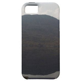Reflection of hill in a Loch in Scottish Highlands iPhone 5 Cases