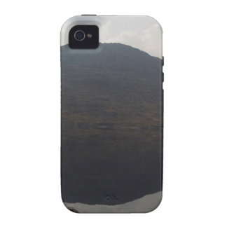 Reflection of hill in a Loch in Scottish Highlands iPhone 4 Cases