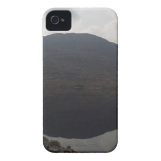 Reflection of hill in a Loch in Scottish Highlands iPhone4 Case