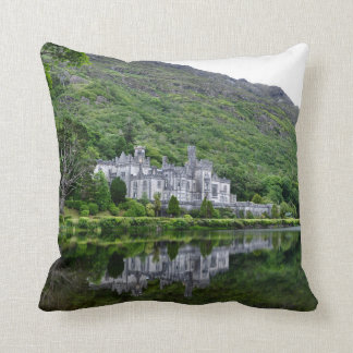 Reflection of Kylemore Abbey Throw Pillow