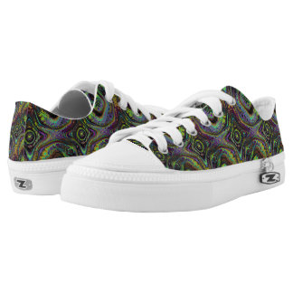 REFLECTION OF MEDIEVAL TIMES GREEN PURPLE Low-Top SNEAKERS