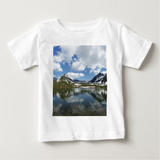 Reflection of sky and clouds in mountain lake baby T-Shirt