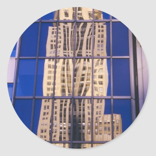 Reflection of Skyscraper NYC Stickers