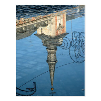 Reflection of tower in the Greater Place of Madrid Postcard