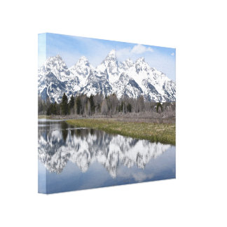 Reflection on the Grand Tetons Canvas Print