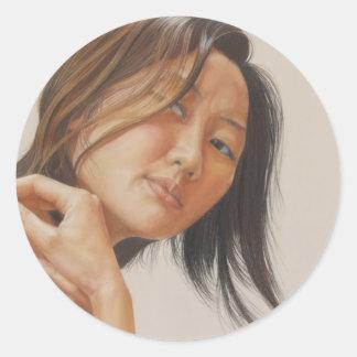 Reflection Round Sticker