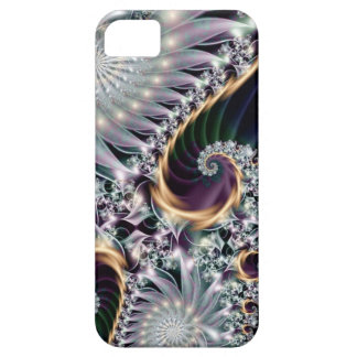 Reflection Silver Spiral Fractal Case For The iPhone 5